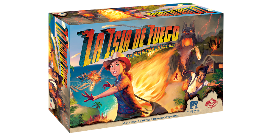 La isla de fuego juego de mesa