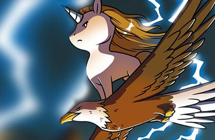 Unicornios al borde de un ataque de nervios
