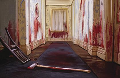 Había algo que parecía pintura roja