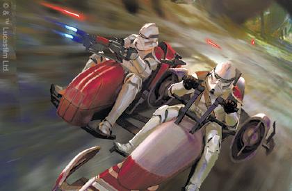 Droïdekas contre Speeder BARC