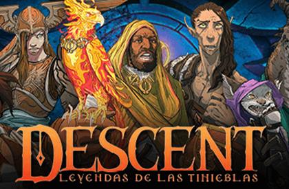 Los héroes de Descent: Leyendas de las tinieblas