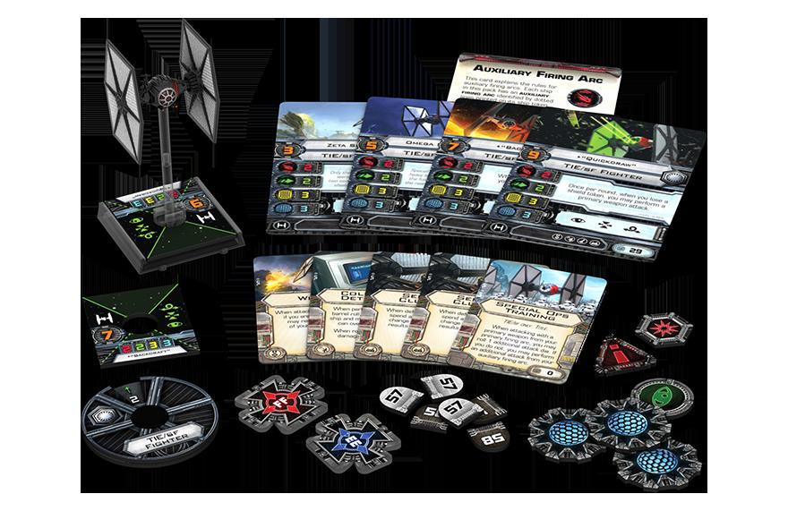 x-wing tie de las fuerzas especiales
