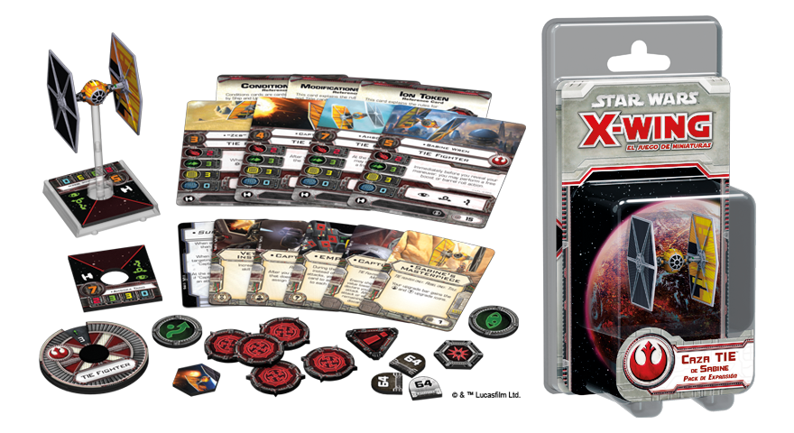 star wars x-wing caza tie de sabine